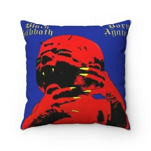BLACK SABBATH Born Again Spun Polyester Square Pillow gift