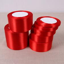 25 Yards Silk Satin Ribbon Wedding Party Decor Wrapping Christmas Apparel LAUS