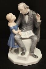 B&G Figurine #2037 Hans Christian Andersen Telling Story to Young Girl