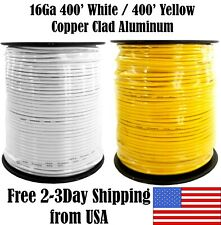 16 Gauge White Yellow 400FT Each Automotive Remote Hookup Trailer Primary Wire