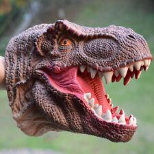 Realistic Dinosaur Hand Puppet Tyrannosaurus Rex Head Kids Toy Role Play Glove