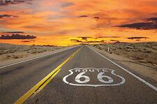 Route 66 fotomural-American Highway papel pintado-póster XXL pared decoración
