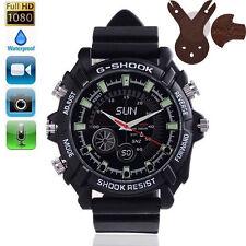 HD 1080P SPY Waterproof Watch 8GB Hidden Camera Audio Camcorder IR Night Vision