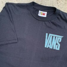 Vintage VANS Skateboards T Shirt Skate Tee Early 90s Single Stitch USA Made sz L