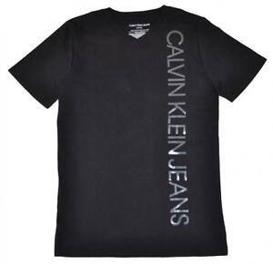 Calvin Klein Boys Black V-Neck Tee Size 4 5 6 7 8 10/12 14/16 18/20