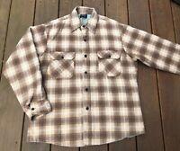 Vintage Sears Perma-prest Quilt Lined Flannel Shirt Jacket Plaid Large