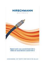 OUTLET Hirschmann Cable de audio digital coaxial, bañado en oro, de 0.9 m