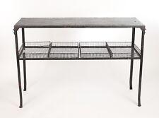 Table Console Acier Style Loft Industriel Vintage Ancien Noir Meuble Paniers