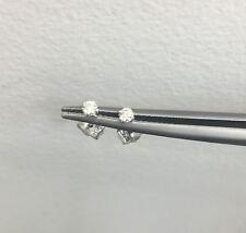 Cute Baby .10Ct Diamond Push Back Stud Baby Earrings 100% Natural 14K White Gold