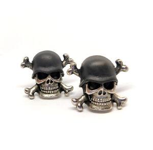 set 2 Totenkopf Skull Schrauben Kennzeichen Stammes motorrad chopper custom helm