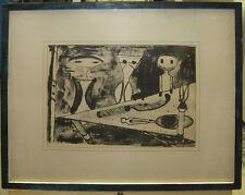 "Gerda Bernstein Rare '55 Abstract Litho ""Frugal Supper"" Important Chicago Artist"