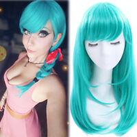 Dragon Ball Bulma Cosplay Wig Women Long Green Anime Straight Hair Party Wigs