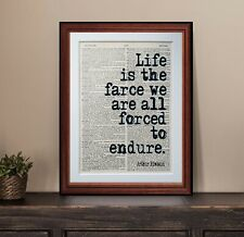 Arthur Rimbaud quote dictionary page art print wall poster antique gift