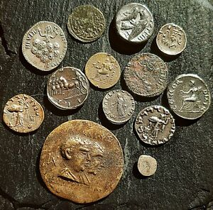 Lot Of Mixed Greek Solver Coins