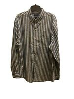 TOMMY BAHAMA MEN'S LONG SLEEVE STRIPED BUTTON FRONT BUTTON DOWN SHIRT SIZE LARGE