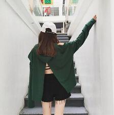 2017 Korean Ulzzang Back Split Hollow Shoulder Hoodie Cool Long Sleeve Coat