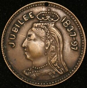 CANADA Queen Victoria Jubilee 1837 1897 Montreal Exposition 23mm Medal Inv 4782