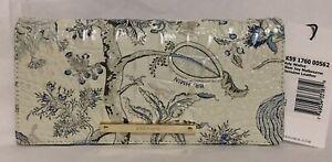 Brahmin Melbourne ADY Slim Bifold Wallet Clutch BLUE JAY White Floral NWT Pretty
