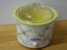 Rival Floral Crock Pot Slow Cooker 3120 FV 2 1/2 Quart