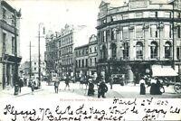 Blackett Street Newcastle Tyne & Wear postcard antique printed social history