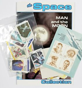 WORLD WIDE STAMPS, THE SPACE COLLECTION, MAN AND THE MOON - Complete set Unused