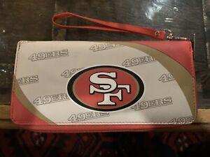 New SF 49ers San Francisco Women's Ladies Clutch Wallet Organizer