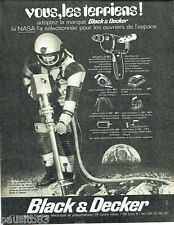 PUBLICITE ADVERTISING 096  1969   Black & Decker Nasa la carotteuse