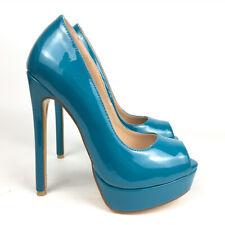 Women Shoes Peep Toe High Heels Platform Pumps Patent Leather Fashion Footwear