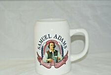 Samuel Adams Boston Lager Beer Stein 20 Oz White Ceramic Mug Tankard Jim Koch