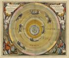 "Beautiful Ancient Map of the Universe and Zodiac CANVAS ART PRINT 24""X16"" #4"