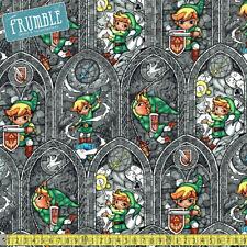 Springs Creative Fabric Zelda Sword Powers Multi PER METRE Nintendo Retro Comput
