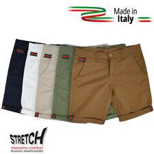 Pantaloncino pantaloncini bermuda shorts da uomo cotone corti estivi beige 48 56