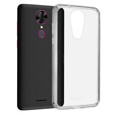 COOLPAD REVVL PLUS FUSION CANDY TPU WITH CLEAR ACRYLIC BACK - CLEAR