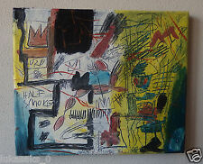 Rare original oil, on canvas painting, signed Jean Michel Basquiat w COA & DOCS.