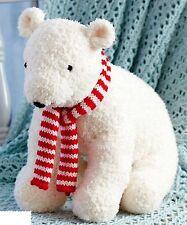 (790) Cuddly Polar Bear Toy Knitting Pattern