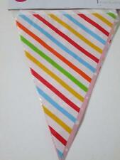 RAINBOW STRIPE STAR circus birthday party lolly buffet bunting flag sign banner