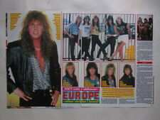 Europe Joey Tempest Kee Marcello Rob Lowe Mats Dalton Dahlberg clippings Sweden