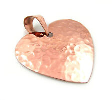 Solid Hammered Copper Love Heart Pendant