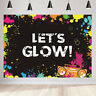 Let's Glow Neon Photography Backdrop Birthday Party Photo Background Decoration