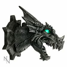 Ferox Dragon Head Wall Plaque Light Up Eyes Nemesis Now