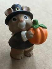 Hallmark Merry Miniatures 1995 Mouse w/ Pumpkin