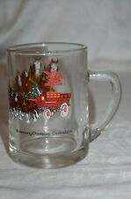 Budweiser Champion Clydesdales Glass Handled Beer / Coffee Mug Glass Vintage
