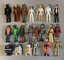 Kenner Star Wars Lot of First 21 Figures Luke Leia Han R2-D2 Vader Fett vintage