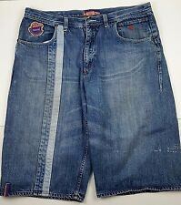 Rocawear Mens Jean Shorts Size 38 W Denim Blue 100% Cotton Long 29 Inches