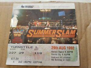 Genuine WWF / WWE Summerslam 29th August 1992 at UK Wembley Stadium Ticket rare