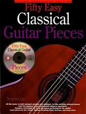 Fifty Easy Classical Guitar Pieces TAB Music Book & CD Beginner to Intermediate