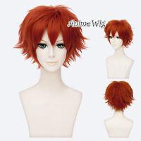 For Nick 30CM Short Orange Layered Anime Cosplay Hair Wig + Wig Cap