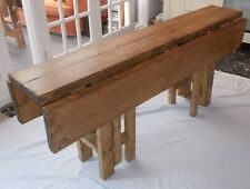 Large Handmade Rustic Drop Leaf Kitchen Dining Table - 4 gate leg