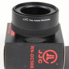JJC RN-DC58B Anillo Arandela Adaptador filtros 58mm Canon PowerShot G10 G11 G12