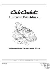 Cub Cadet Parts Manual Model No. GT 1554